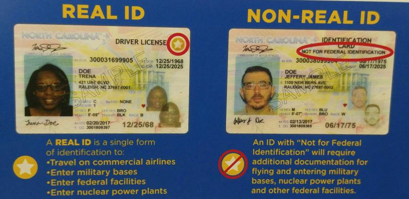 north carolina drivers license change