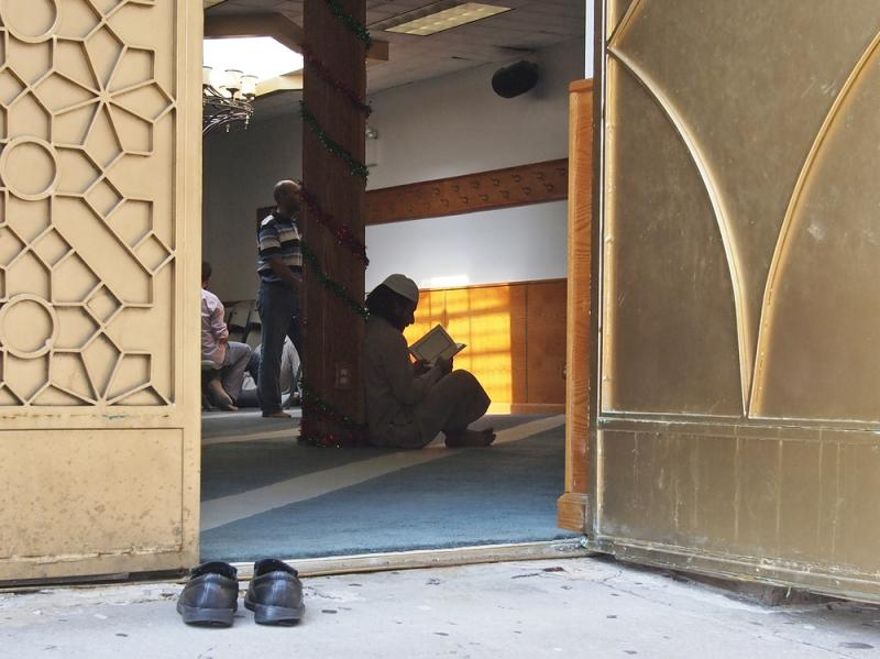In this photo taken in 2011, worshippers are pictured inside the Al-Iman Mosque after midday prayers in the Queens borough of New York. The NYPD disbanded the special unit tasked with carrying out surveillance of Muslim groups in 2014