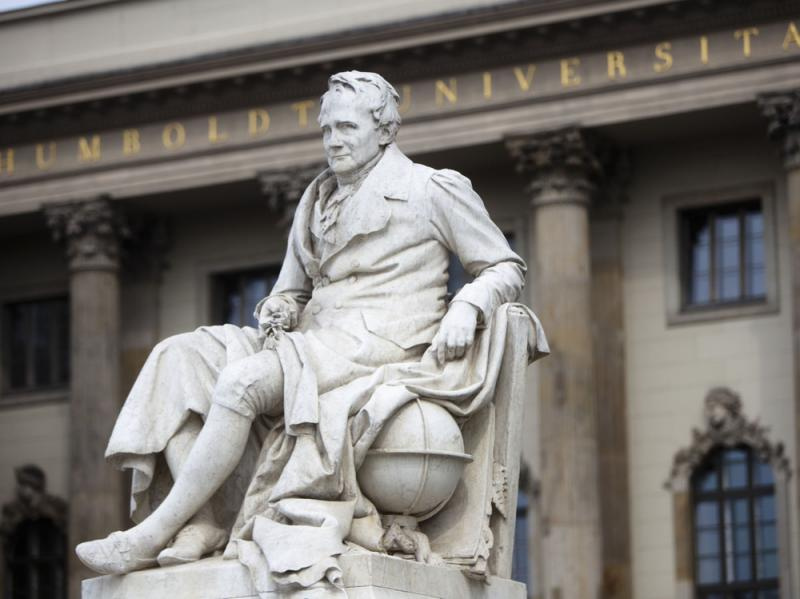 Berlin's Humboldt University — named for its founder, the 19th century philosopher and linguist Wilhelm von Humboldt, and his brother, naturalist Alexander von Humboldt, pictured here — is one of several German universities attracting U.S. stude