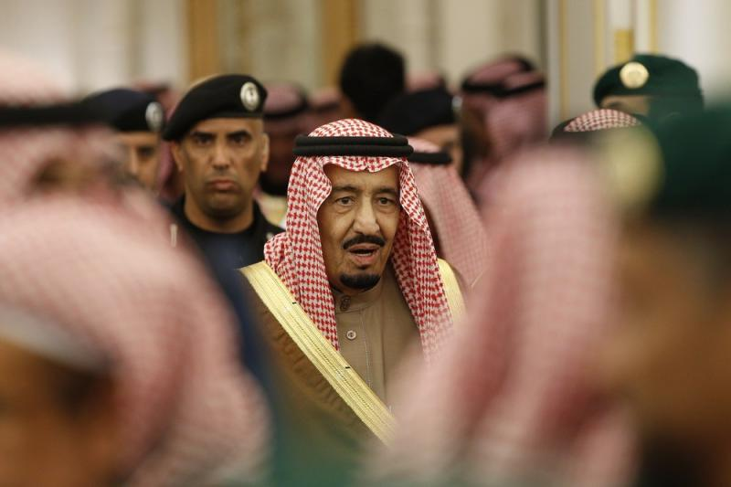 Saudi Arabia's King Salman attends a ceremony at the Diwan royal palace in Riyadh in April.