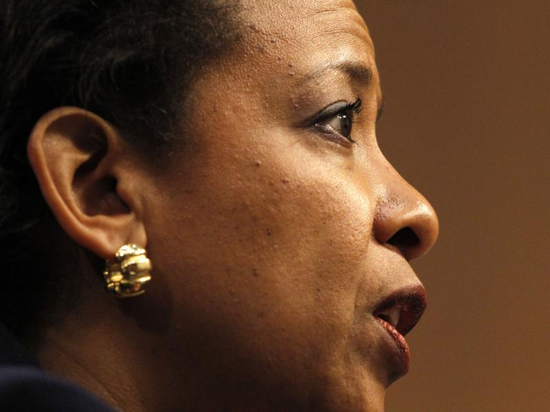 Attorney general nominee Loretta Lynch testifies on Capitol Hill in January. Lynch was confirmed by the Senate on Thursday after months of delay and partisan bickering.