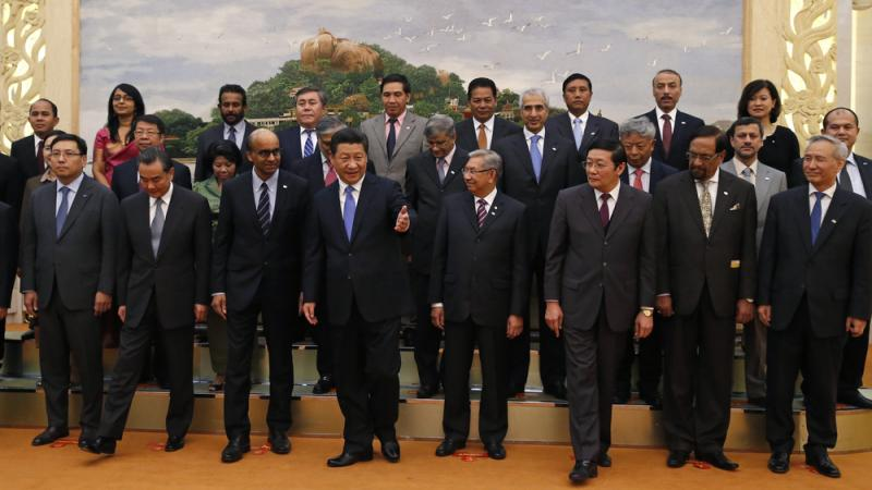 Chinese President Xi Jinping, center, and Asian leaders approved an agreement on the Asian Infrastructure Investment Bank in Beijing in Oct., 2014. European countries are beginning to sign up too.