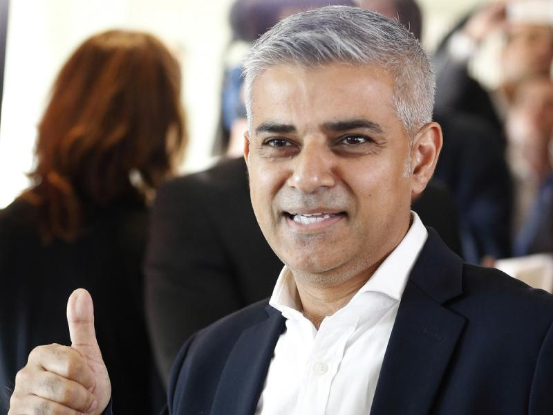Sadiq Khan, whose Pakistani father was a bus driver in London for more than 25 years, has been elected mayor. He is the city's first Muslim mayor.