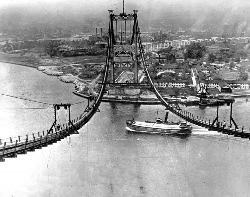 The Triborough Bridge is seen under construction in New York City on July 10, 1935. The bridge, now known as the Robert F. Kennedy Bridge, connects Long Island with Manhattan.  The Dutch Prime Minister is a fan of the biographer of Robert Moses, who was i