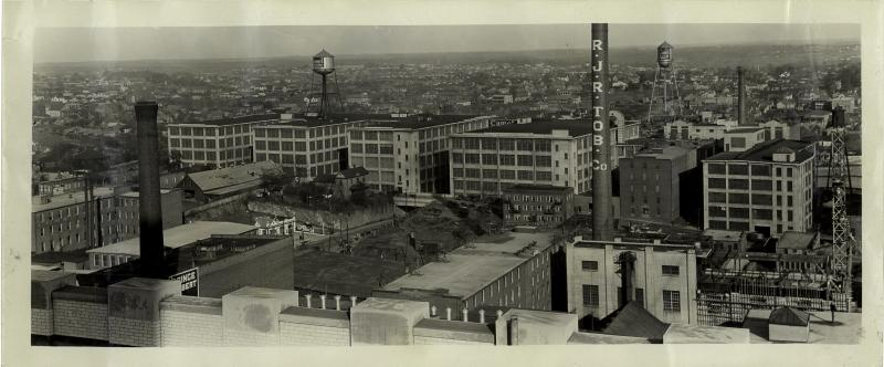 Panoramic view of Innovation Quarter neighborhood 1920s.