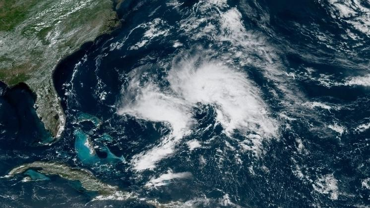 """A satellite image from 1 p.m. ET shows """"Disturbance 1,"""" which has a 70% chance of becoming a tropical storm, the National Hurricane Center says."""