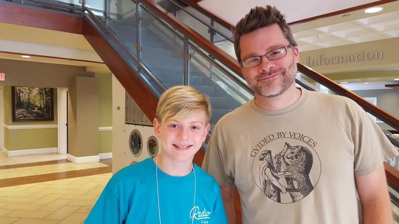 Chad Barnard & camper Jude Grayer