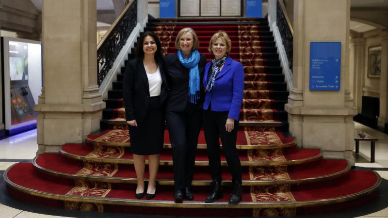 British politicians Heidi Allen, Sarah Wollaston and Anna Soubry (from left to right) announced Wednesday that they were breaking away from their party to join the newly formed, more centrist Independent Group.