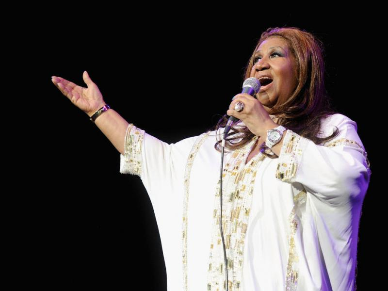Aretha Franklin performing in New York City in 2012.