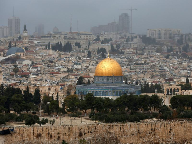 A picture taken from the Mount of Olives shows the Old City of Jerusalem with the Dome of the Rock. President Trump on Wednesday recognized Jerusalem as Israel's capital, upending decades of U.S. policy and ignoring dire warnings from Arab and Western all