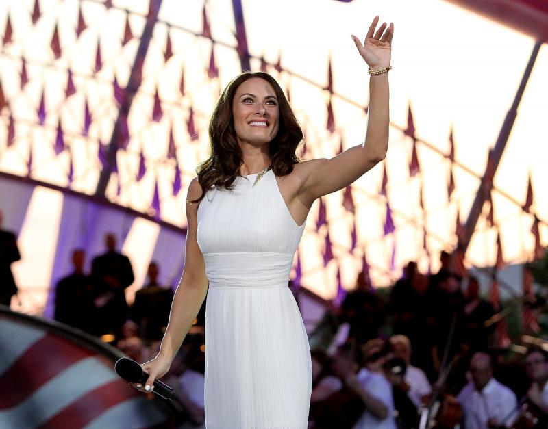 Laura Benanti performs in Washington in 2015. She recently asked high school students to send her videos of their musical theater performances after many of them were canceled.