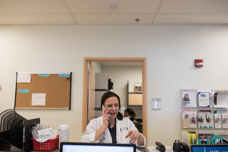 Dr. Lisa Hofler runs a University of New Mexico clinic that stocks mifepristone but doesn't routinely provide prenatal care. She and her colleagues can schedule same-day appointments for women diagnosed with miscarriages elsewhere.