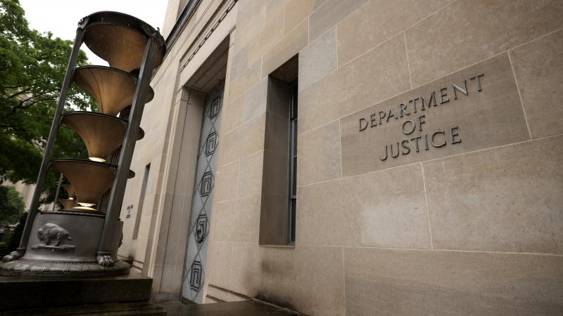 The U.S. Department of Justice is seen Friday.