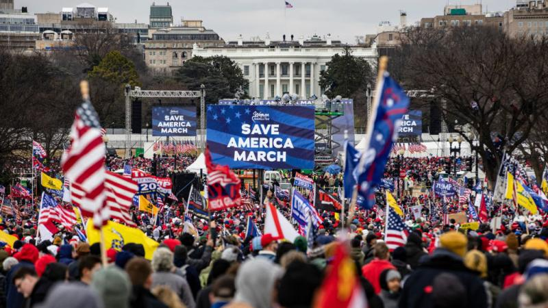 Supporters of former President Donald Trump flock to the Jan. 6 rally in Washington, D.C. Officials who were speakers at that rally are under scrutiny over the riot at the U.S. Capitol later that day.