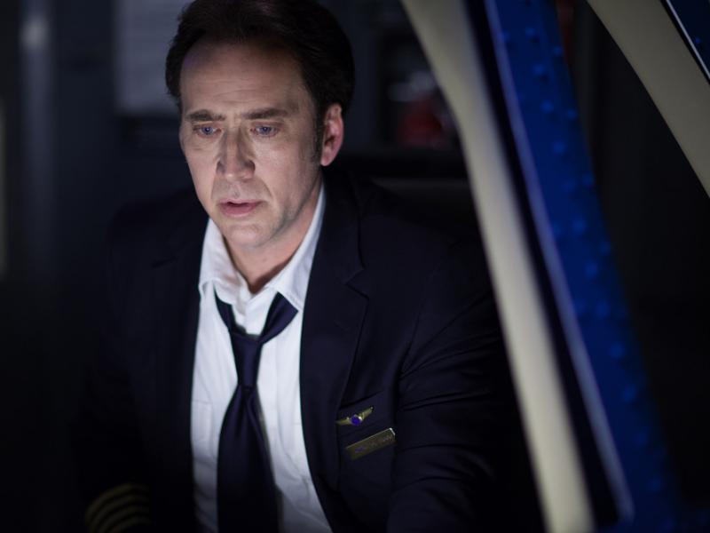 Nicolas Cage stars as airline pilot Ray Steele in Left Behind.