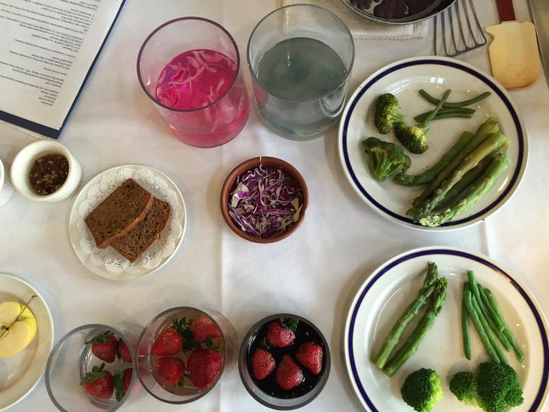 A selection of foods discussed by Shirley Corriher at the National Press Club on Oct. 22.