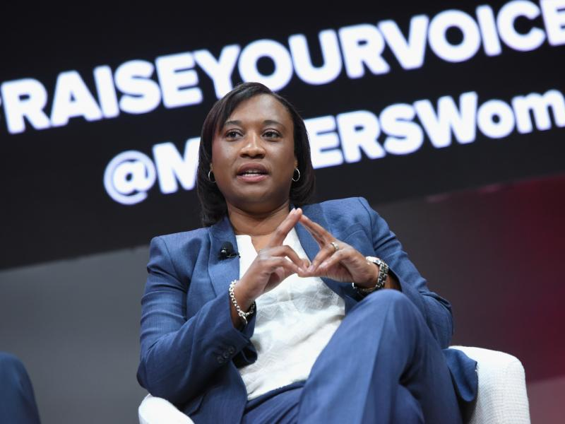 Laphonza Butler (shown here in 2018) is the first woman of color to lead Emily's List. Most recently, she worked at AirBnb and on Kamala Harris' presidential campaign.