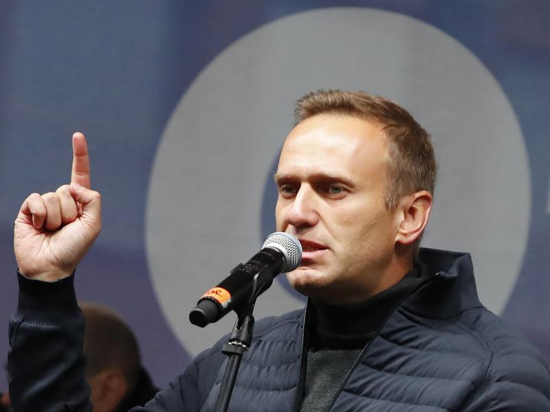 Russian opposition leader Alexei Navalny, shown here at a 2019 rally in Moscow, says he plans to return to Russia.