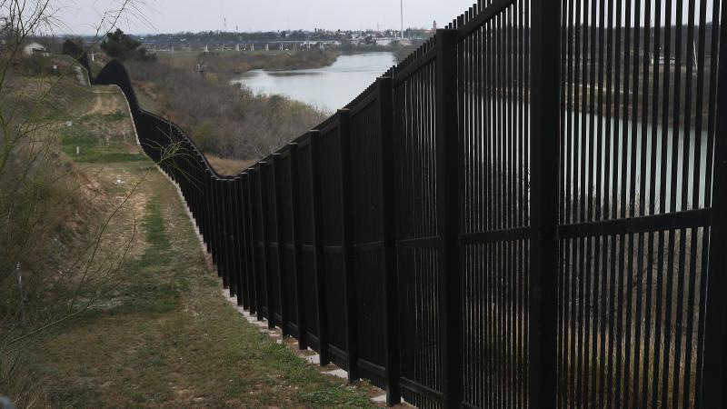 A border fence is seen near the Rio Grande which marks the boundary between Mexico and the United States on February 09, 2019, in Eagle Pass, Texas.