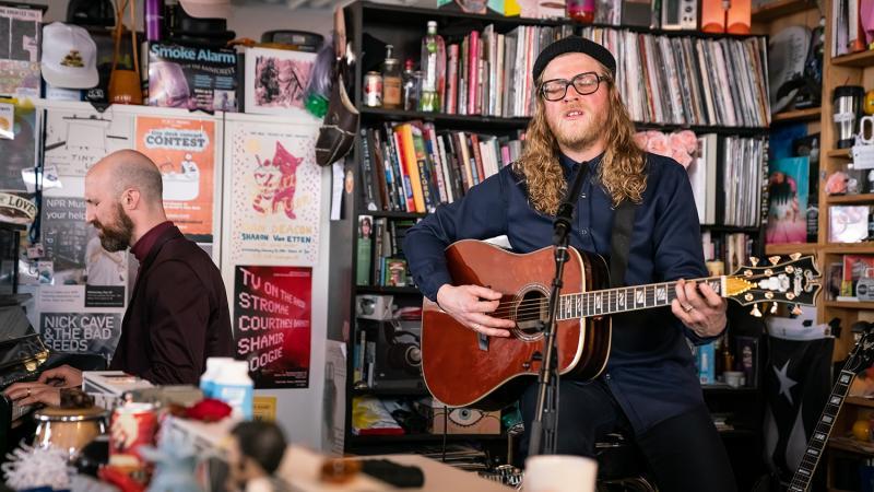 Allen Stone plays a Tiny Desk concert (Max Posner/NPR).