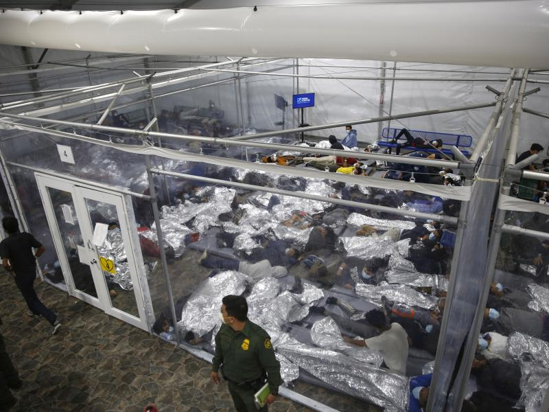 The Biden administration has struggled to house young migrants at Customs and Border Protection facilities like this one in Donna, Texas.