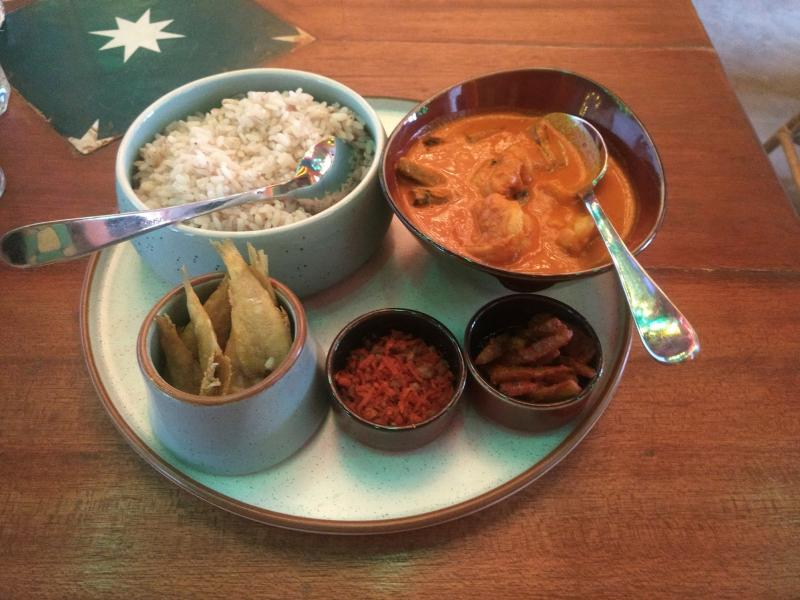 Fish curry inflected with coconut is a staple dish in the coastal Indian state of Goa. It's usually eaten accompanied by unpolished rice, fried fish and a dab of pickle. Once all the fish has been eaten up, the leftover curry is reheated over a low flame