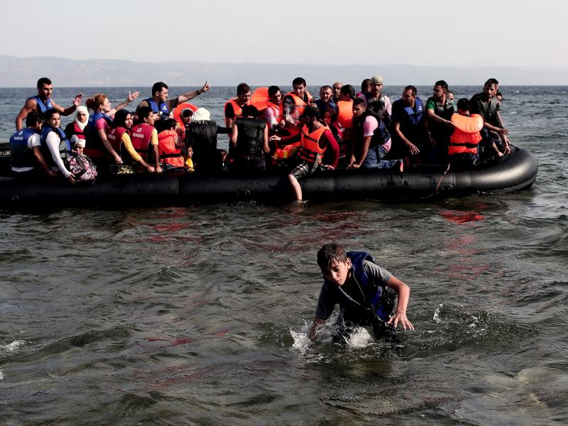 Syrians arriving on the Greek island of Lesbos are part of the largest flow of refugees since World War II. The challenge for the U.N. is to find the funds and political will to address refugee needs while tackling the newly ratified Sustainable Developme