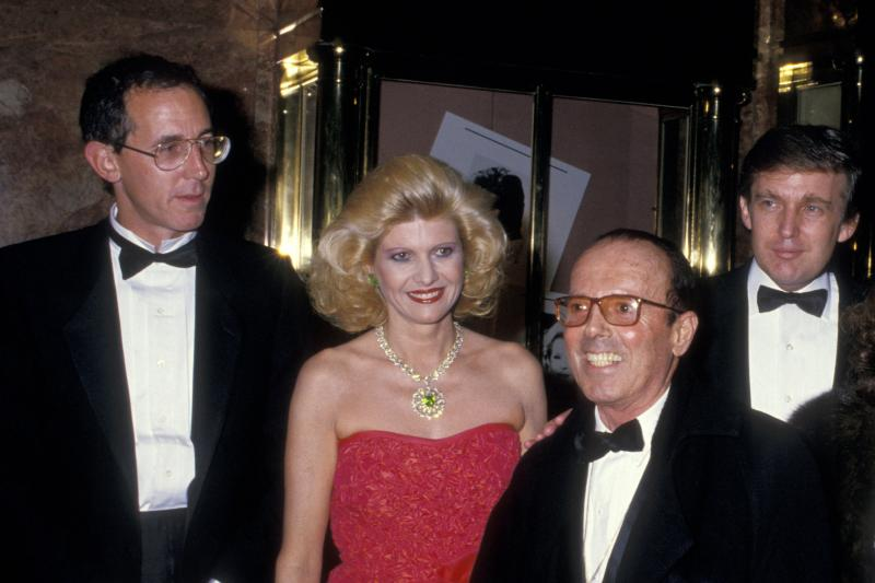 Tony Schwartz (from left), Ivana Trump, photographer Francesco Scavullo and Donald Trump celebrate the publication of Donald Trump's 1987 book, The Art of the Deal, which was ghostwritten by Schwartz.