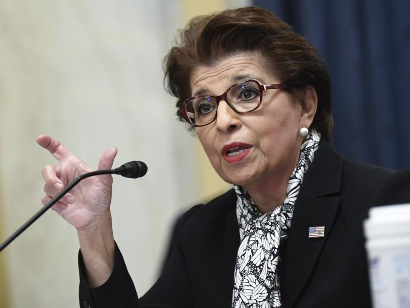 Jovita Carranza, Administrator of the Small Business Administration, testifies during a Senate Small Business and Entrepreneurship hearing June 10, 2020, on Capitol Hill in Washington.
