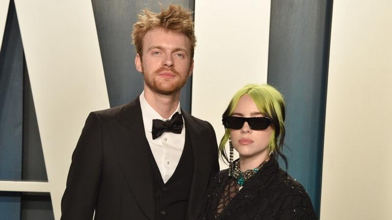 Siblings Finneas O'Connell and Billie Eilish, photographed attending the Vanity Fair Oscar Party on Feb. 9, 2020 in Beverly Hills.