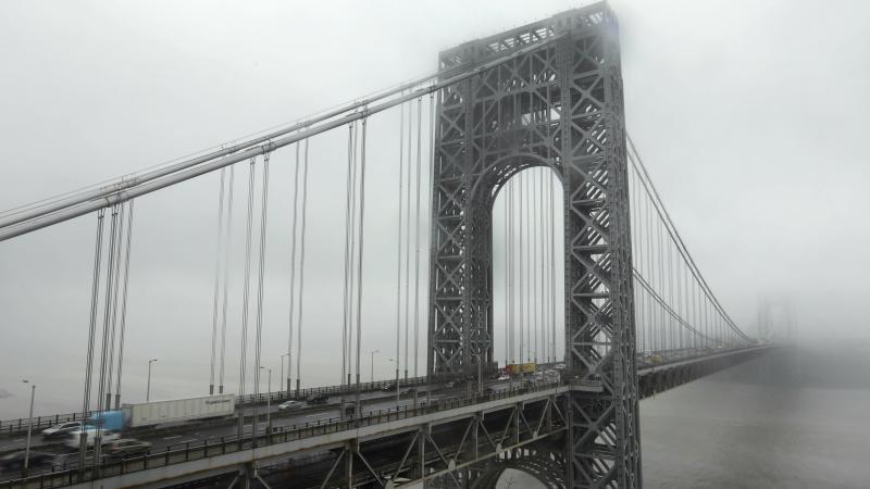 Traffic crosses the George Washington Bridge in Fort Lee, N.J. The bridge made headlines in 2013 when two access lanes were shut down, creating gridlock — and a political scandal.