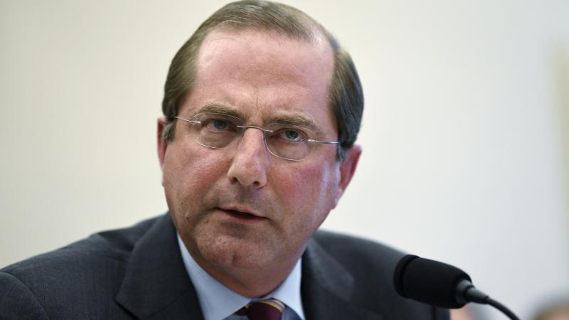 Health and Human Services Secretary Alex Azar, seen in March, issued a statement Monday at the United Nations General Assembly stating that abortion is not an international human right.