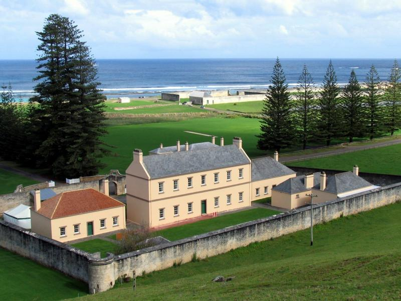 The old government buildings and remains of the penal colony in Kingston, the capital of Norfolk Island, located about 1,000 miles northeast of Sydney, in a photo taken in 2006.