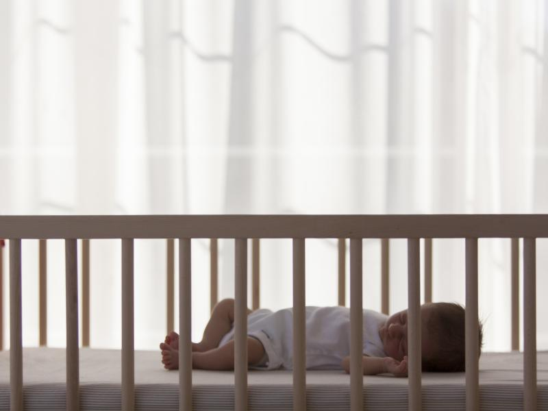 Babies get less sleep at night and sleep for shorter stretches when they sleep in their parents' room after 4 months old, a new study finds.