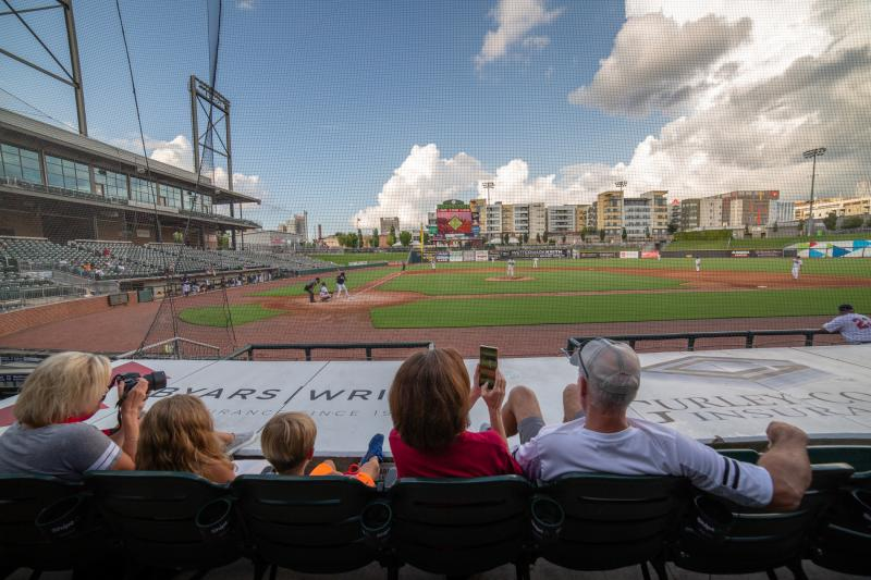 Dozens of fans turned out to watch the Red Sox amateur baseball team tangle with the Yankees at Regions Field in Birmingham, Ala. The teams are part of an over-35 league showcasing their skills at a ballpark normally used by the Birmingham Barons minor le
