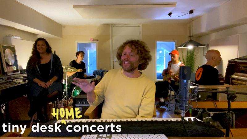 Benny Sings plays a Tiny Desk (Home) concert.