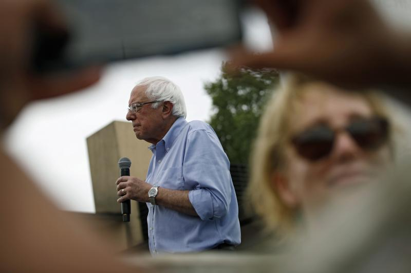 Democratic presidential candidate Sen. Bernie Sanders, seen at the Iowa State Fair on Sunday, has lashed out at The Washington Post over coverage of his presidential campaign.