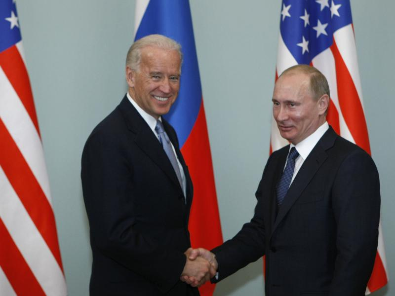Joe Biden met with Vladimir Putin in Moscow in 2011, when Biden was U.S. vice president and Putin was Russia's prime minister. A decade later, the two will meet as presidents in Geneva on June 16.