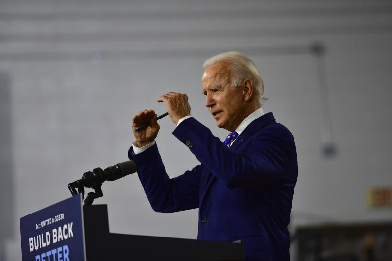 Former Vice President Joe Biden, seen here at a speech in July in Delaware, has apologized for suggesting the African American community is not diverse.