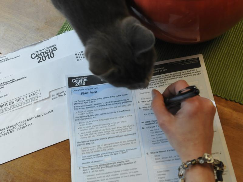 A resident of Reading, Pa., fills out a U.S. census form in 2010. The White House's Office of Management and Budget says it's reviewing proposals that the Census Bureau's researchers say would allow the census to gather more accurate race and ethnicity da