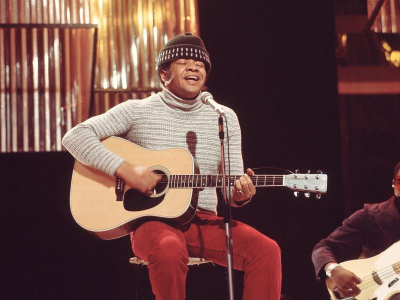 Bill Withers, performing on television in London in 1972.