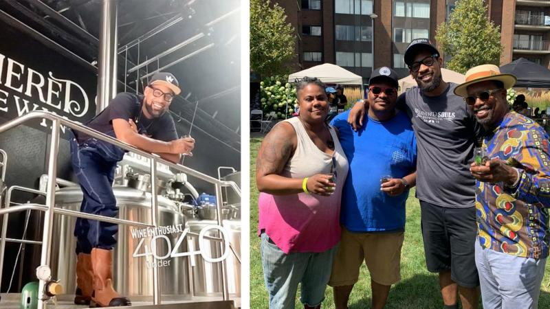 Marcus Baskerville, second from the right, at Black Brew Culture's Fresh Fest, August 11, 2019.