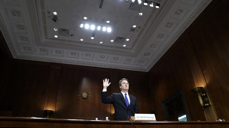 Supreme Court nominee Judge Brett Kavanaugh testifies before the Senate Judiciary Committee on Thursday on Capitol Hill in Washington, D.C.
