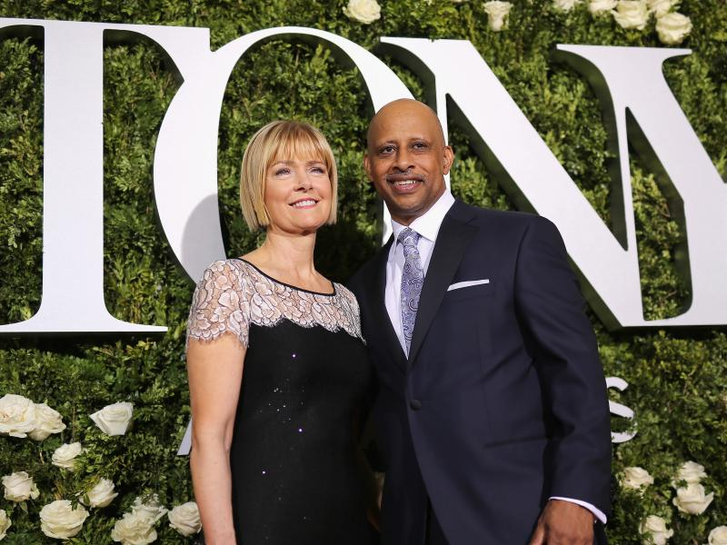 """Ruben Santiago-Hudson and Jeannie Santiago attend the 2017 Tony Awards at Radio City Music Hall. Playwright Ruben Santiago-Hudson will both star in his own one-man play, """"Lackawanna Blues"""" and direct """"Skeleton Crew"""" this year."""