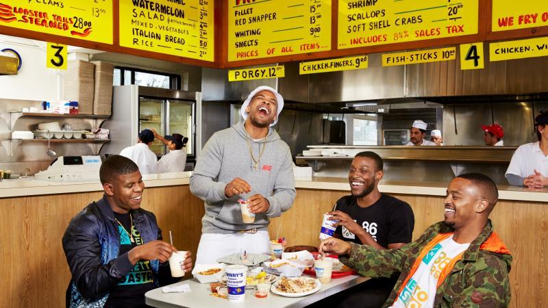 "The Ghetto Gastro collective (Jon Gray, Lester Walker, Pierre Serrao and Malcolm Livingston II) is a self-described ""black power kitchen"" in The Bronx."