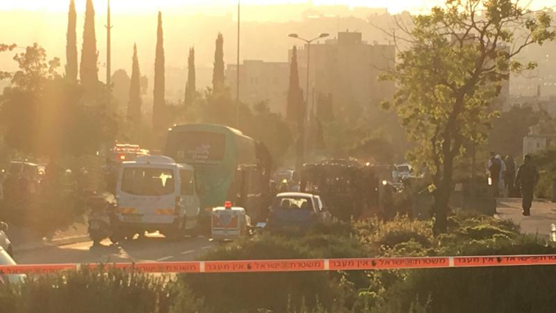 Two buses caught on fire in Jerusalem on Monday, injuring multiple people.