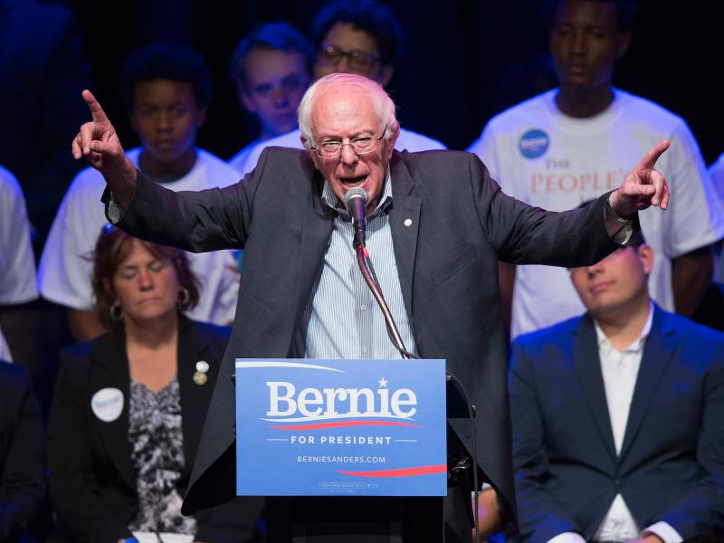 Democratic Sen. Bernie Sanders, along with Republican presidential candidate Ben Carson, is the champ of getting small donations.