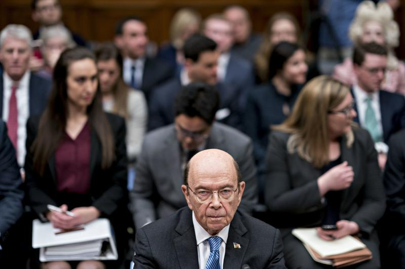 Commerce Secretary Wilbur Ross, who oversees the Census Bureau, waits for a House Oversight and Reform Committee hearing to begin in Washington, D.C., in 2019. In July, Ross directed bureau officials to speed up the 2020 census to end counting a month ear