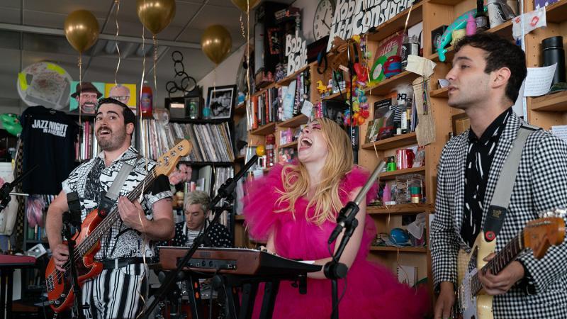 Charly Bliss plays a Tiny Desk Concert (Bob Boilen/NPR).