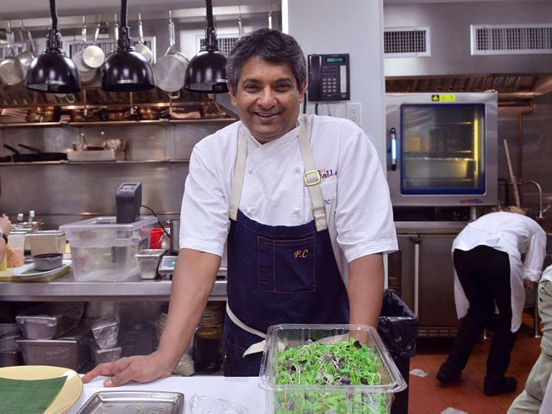 Chef Floyd Cardoz, shot in New York City in 2016. Cardoz died Wednesday from complications from the coronavirus.